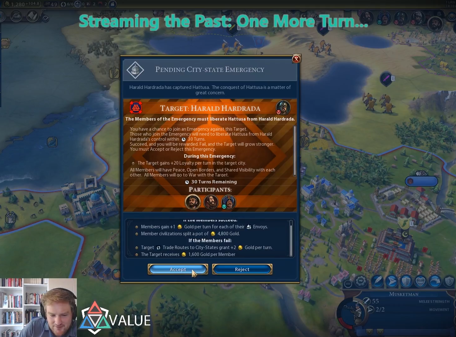 Streaming the Past: One More Turn 9